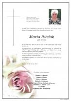 Maria Petelak, gestorben am 26.01.2021