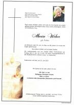 Maria Josefa Weber, gestorben am 23.06.2021