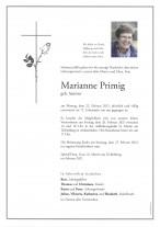 Marianne Primig, gestorben am 22.02.2021