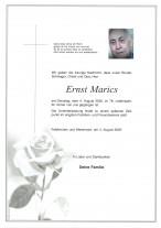 Ernst Marics,gestorben 04.08.2020