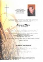 Berhard Mayer, vlg. Thomalebauer, gestorben am 19.02.2020