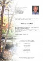 Heinz Mewes, gestorben am 20.02.2020