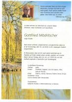 Gottfried Mödritscher, gestorben am 16.07.2020