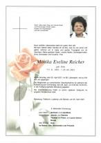 Monika Eveline Reicher, gestorben am 25.04.2021