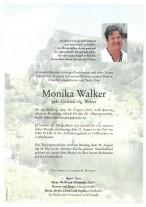 Monika Walker, gestorben am 16.08.2021