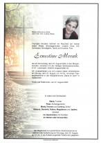 Ernestine Morak, gestorben am 27.08.2020