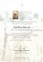 Adolfine Morak, gestorben am 24.12.2020