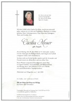 Cäcilia Moser, gestorben am 29.06.2020