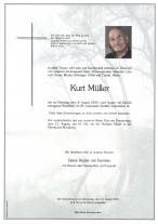 Kurt Müller, gestorben am 08.08.2020
