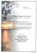 Rosa Nagele-Dreschl, gestorben am 16.07.2020