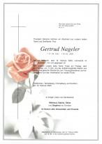 Gertrud Nageler, gestorben am 19.02.2020