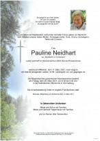 Pauline Neidhart, gestorben am 17.03.2021