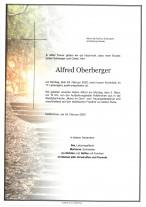 Alfred Oberberger, gestorben am 24.02.2020