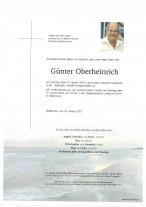 Günter Oberheinrich, gestorben am 19.01.2020