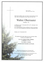 Walter Oberrauter, gestorben am 13.11.2019