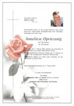 Anneliese Opriessnig, gestorben am 07.02.2020