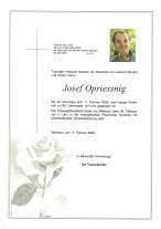 Josef Opriessnig, gestorben am 11.02.2020