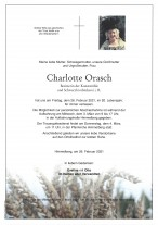 Charlotte Orasch, gestorben am 26.02.2021