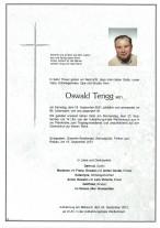 Oswald Tengg, gestorben am 18.09.2021
