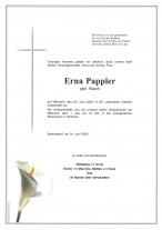Erna Pappler, gestorben am 24.06.2020