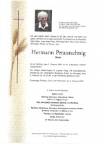 Hermann Petautschnig, Bauer, gestorben am 03.02.2020