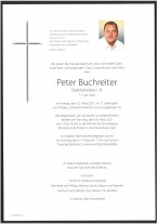 Peter Buchreiter, gestorben am 12.03.2021