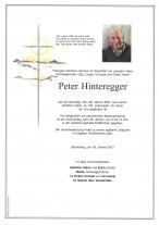 Peter Hinteregger, gestorben am 26.01.2021