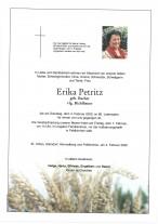 Erika Petritz, vlg. Bichlbauer, gestorben am 04.02.2020