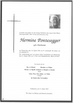 Hermine Pontesegger geb. Bierbamer, gestorben am 16.01.2020