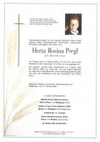 Herta Rosina Pregl, gestorben am 21.02.2020