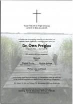 Dr. Otto Preglau, gestorben am 4.11.2019