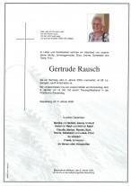 Gertrude Rausch, gestorben am 05.01.2020
