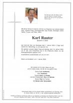 Karl Rauter, Spiaswirt in Sittich, gestorben am 07.01.2020