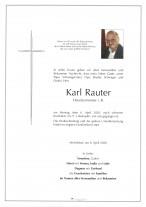 Karl Rauter, gestorben am 06.04.2020