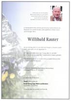 Willibald Rauter, gestorben am 15.06.2020