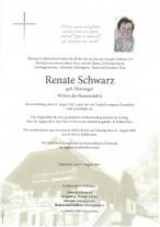 Renate Schwarz , gestorben am 16.08.2021