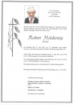 Robert Holdernig, gestorben am 12.06.2021