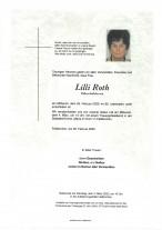 Lilli Roth, gestorben am 26.02.2020
