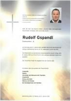 Rudolf Gspandl, gestorben am 05.01.2021