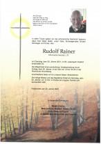 Rudolf Rainer, gestorben am 26.01.2021