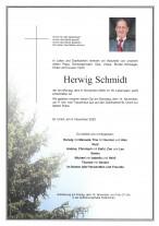 Herwig Schmidt, gestorben am 09.11.2020