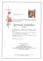 Gertrude Schmölzer, geb. Samitz, gestorben am 21.02.2020