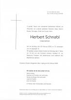 Herbert Schnabl, Unternehmer, gestorben am 29.02.2020