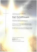 Karl Schöffmann, gestorben am 10.10.2020