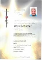 Emilie Schusser, gestorben am 22.09.2020