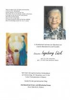 Schwester Ingeborg Lück, gestorben am 01.12.2019