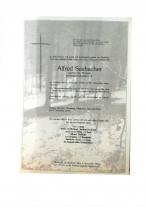 Alfred Seebacher, gestorben am 4.11.2019
