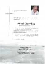 Johann Sereinig, gestorben am 21.03.2021