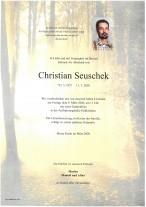 Christian Seuschek, gestorben am 01.03.2020