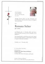 Romana Sicher, gestorben am 11.11.2020